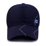 Men's Summer Breathable Adjustable Mesh Hat Quick Dry Cap Outdoor Sports Baseball Cap