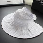 Para mujeres de verano de playa plegable protectivo solar sombrero al aire libre de conducir anti-UV con ancho borde con visera sombrero