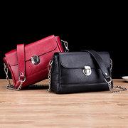 Women Genuine Leather Crossbody Bag Vintage High-end Lock Chain Shoulder Bag