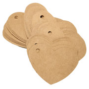 100pcs Vintage Wedding Favor Gift Tags Blank Luggage Label Kraft Paper With Strings