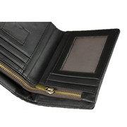 Porte-cartes en cuir véritable pour hommes en cuir rétro avec porte-cartes Slots Photo sac à main Portable Sac court