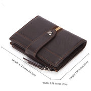 RFID Antimagnetic Genuine Leather Multi-slot Trifold Wallet For Men