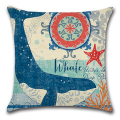 Marine Sea Creatures Cushion Hold Pillowcase Cushion Cover Bags Home Car Decor