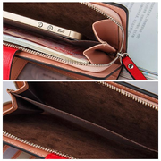 Women PU Leather 11 Card Slot Long Wallet Solid Multi-function Phone Purse