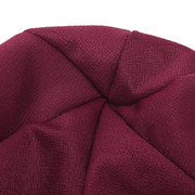 Womens New Side Paste Large Flower Beanies Cap Casual Cotton Solid Bonnet Hat