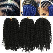 3 Pieces / Pack 8 Inch Black Brown Africano Cabelo Sintético Crochet Small Braids Wigs For Women