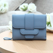 Women Stylish Short Wallet Candy Color Folding Purses Card Holder Coins Bag