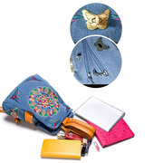 National Style Embroidery Backpack Shoulder Bag For Women