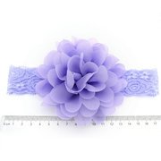 Flower Princess Style Elastic Adjustable Baby Girls Headband For 0Y-5Y
