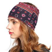 Женская Винтаж Vogue Wild National Style Удобные головные уборы Travel Home Повседневная повязка на голову