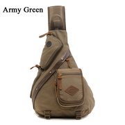 Men Women Canvas Retro Casual Casaco exterior Shoulder Chest Crossbody Bag