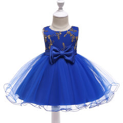 Bowknot Flower Girls Party Formal Dress For 0-24 Months
