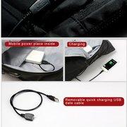 KINGSONS Sacoche pour ordinateur portable Sac à dos de voyage anti-vol avec port de chargement USB pour homme