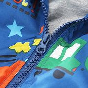Car Printed Spring Boy Coat Kids Jacket Windbreaker For 2Y-9Y