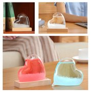 Storm Glass Barometer Crystal Drops Heart Shape Weather Monitor