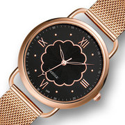 Casual Style Quartz Watch Rose Gold Case Women Wrist Watch Full Steel Women Watch