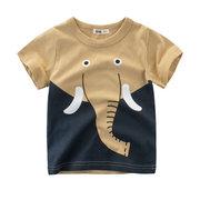 Animal Pattern Baby Boys с коротким рукавом Тройники Дети Детская летняя одежда Малыши для мальчиков Футболки
