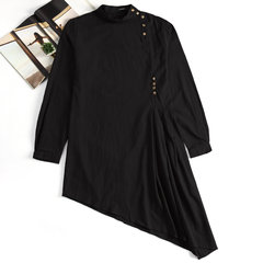 Mittellanges indisches arabisches Moslems Middle East Kleid Robe Kaftan-T-Shirt mit schmaler Bluse