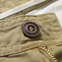 Pantaloncini casual da uomo traspiranti in cotone tinta unita traspiranti Lunghezza