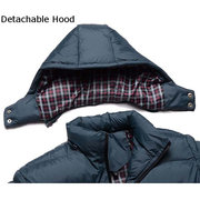 Outdoor Thicken Warm Detachable Hood Padded Jackets for Men