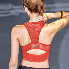 Hollow Breathable Wireless Shockproof Moving Comfort Sports Bra