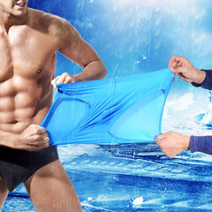 Casual Breathable Ice Silk Transparent Thin Breathable Seamless Stretch Briefs for Men