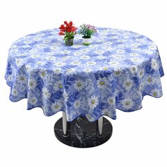 Round Household Picnic Water Resistant Oil-proof Table Cloth PEVA Cover Home Decor
