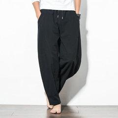 Saison nouveaux pantalons décontractés style chinois coton et lin pour hommes en vrac grande taille sarouel marée pantalon large pantalons pour hommes