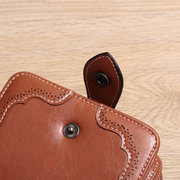 Women PU Leather Vintage National Wallet Card Holders Purse
