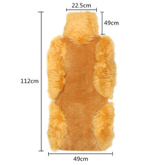Universal Plush Fur Car Front Seat Cover Automobile Plush Warm Front Row Seat Slipcover