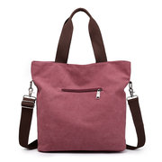 KVKY Front Pockets Canvas Handbags Vintage Shoulder Bags Capacity Shopping Bags