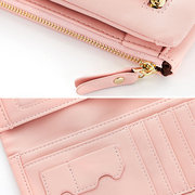 Stylish Candy Color PU Leather Long Wallet Card Holder Phone Bag For Women