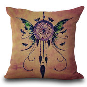 Dream Catcher Net Printed Square Linen Cushion Cover Decoration Pillowcase
