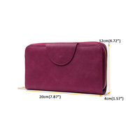 Women Faux Leather Multi-function Phone Holder Wallets Coin Purse