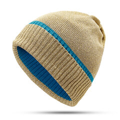 Women Warm Knit Cotton Beanie Hat Outdoor Casual Wild Windproof Ear Protection Hat