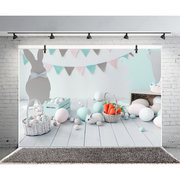 7x5ft Cute Rabbit Bunny Easter Day Backdrop Party Banner Photo Studio Background