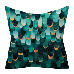 Agate Emerald Abstract Geometrical Peach Skin Cushion Cover Home Sofa Art Decor Throw Pillowcases