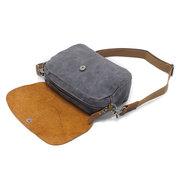 Ekphero قماش عارضة حقيبة جلدية حقيقية حقيبة كروسبودي حقيبة الكتف