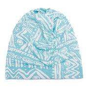 Mujer Hombres Útil Imprimir Algodón Cálido Beanie Sombrero al aire libre A prueba de viento para ambas cabezas y Cuello calentador Sombrero