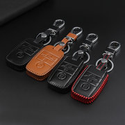 PU Leather Smart Remote Car Key Case/Bag 3 Button Cover Protector Holder for KIA