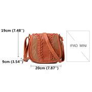 Sac porté croisé vintage en patchwork sac porté épaule en similicuir pour femme