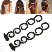 2Pcs Waterfall Braid Twist Roller French Back Hair Styling Clip Tool