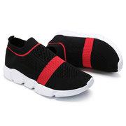 Women Knitted Mesh Slip On Sport Walking Shoes