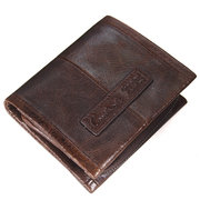 Genuine Leather Wallet With Removable Coin Pocket Retro Leisure Coin Bag For Men