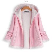 Casual filles chaudes à capuche poche zippée à manches longues manteaux en molleton pour 3Y-14Y