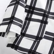 3pcs filles vêtements mis grille manteau + tops + pantalon pour 3-13ans