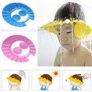 Protect Ear Soft Caps Child Shampoo Shower Cap Bath Hat Adjustable Rubber