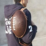 Borsa a tracolla casuale a forma di borsa sportiva a forma di pallone da football americano 3D