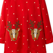 Christmas Pattern Girls Long Sleeve Casual Dress For 1Y-9Y