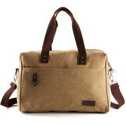 Big Capacity Travel Handbag Canvas Business Crossbody Bag For Men